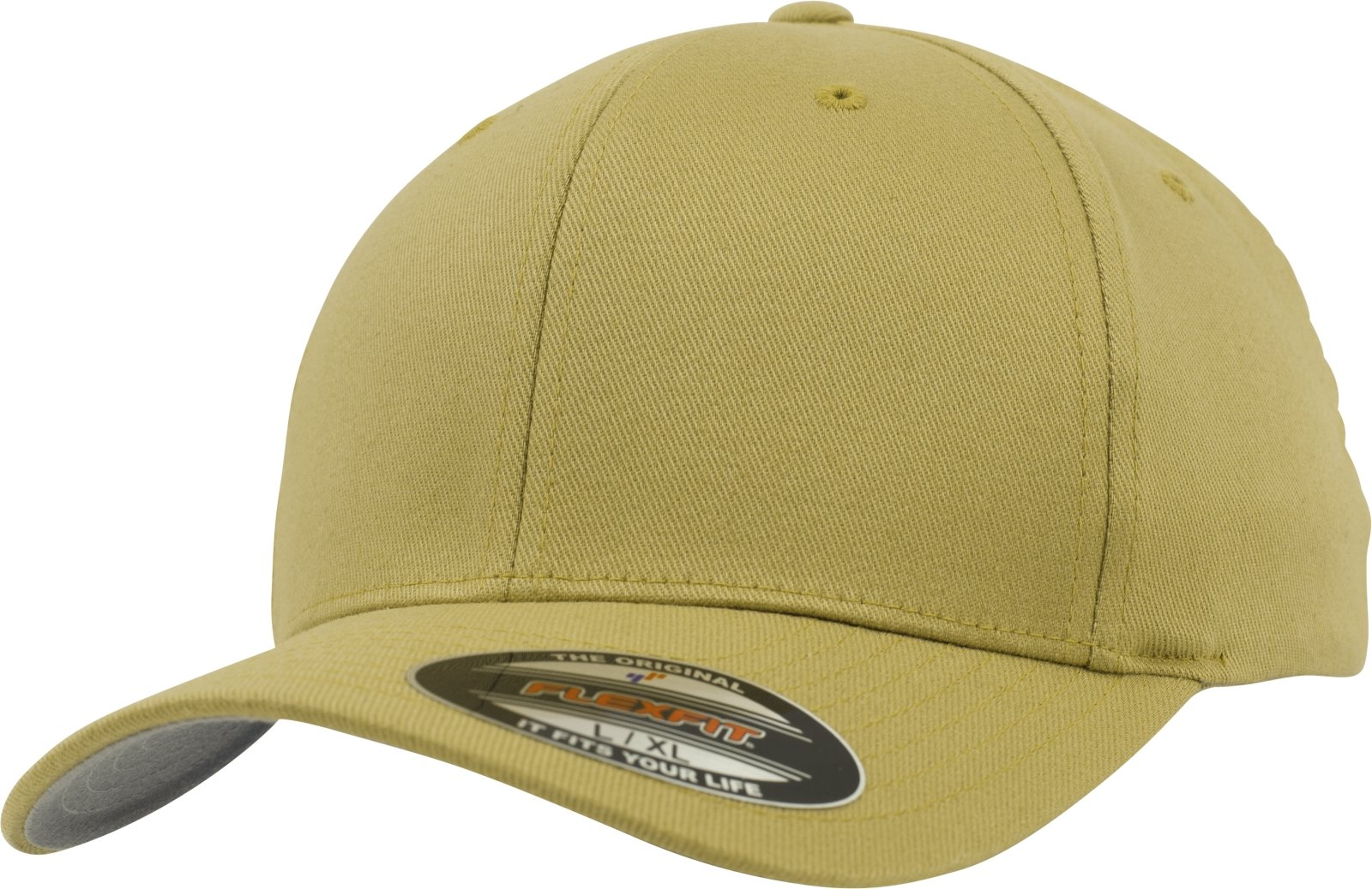 Flexfit Wooly Combed Caps, Unisex, Flexfit Wooly Combed, curry, S/M
