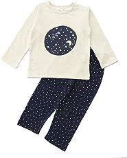 FUNKRAFTS Kids Full Sleeves Off-White/Navy Blue Night Sky Print Night Suit
