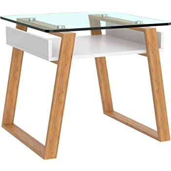 BonVivo Pablo Petite Table, Table Basse Design et Moderne, Table d'appoint de Salon, Table en Verre pour Le Salon