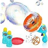 Ucradle Bubble Maschine Pistole, Riesenseifenblasen Spielzeug für Kinder& Erwachsene, Seifenblasenmaschine Set mit 2X 236 ml Seifenblasenlauge, Bubble Maker Sommer Spiel (2 Arten von Blasenformen)
