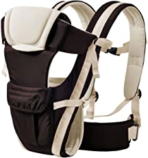 My NewBorn Original -4 Way Carrying Position Baby Carrier with Waist Belt (MN-Carrier-C1-Basic-Black)