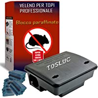 Trappola per Topi Grandi con Veleno per Topi Professionale Incluso, Novità 2021, 300gr Veleno Potentissimo, Grande Box…