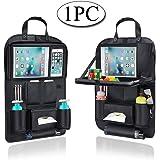 AresKo Organiseurs pour Voiture, Car Seat Seat Organiseur Table à Manger avec 9.7 Po à Écran Tactile iPad Tablet Holder Multi-Poches pour Voiture rangé, 1PC