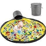 Sacco Portagiochi Tappeto,Toy Storage Mat,Tappetino per Giochi Organizzatore di Giocattoli,Sacca Porta Giochi Bambini,Toy Sto