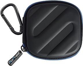 Gofree Earphone Multi Purpose Semi Rigid Shock Proof Case Cover Pouch (Black)