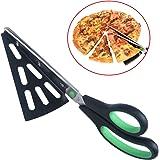 flintronic Acciaio Inox Pizza Scissors, Forbici Taglia con Base, Forbice Taglia-Pizza, Sostituire Pizza Cutter, Multifunzionale, Tagliare Il Barbecue(Verde)