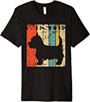 West Highland Terrier Westie T-Shirt Retro Vintage