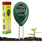Suplong Soil PH Testing Kit 3 in 1 Plant Soil Tester Kit With PH, Light & Moisture acidity Tester,Great For Bonsai Tree, Gard