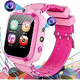 Smartwatch Bambini 14 Giochi MP3 Musica 2*Fotocamere Video, Orologio Intelligente Bambini Sveglia Torcia Pedometro Recorder,