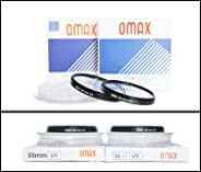 Omax uv Filter for Nikon d3500/ d3400 af-p dx nikkor 18-55mm vr + af-p dx nikkor 70-300mm vr Lens