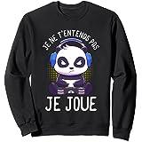 Panda T-shirts de gaming homme garçon gamer cadeaux homme Sweatshirt