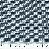 Donet Dekostoff schwer entflammbar Treviera CS Meterware Gardine Vorhang Stoff mit Leinenstruktur, Graublau 937