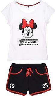 motivo: Topolino e Minnie taglia: S-XL Pigiama originale Disney da donna set con pantaloncini e maglietta a maniche corte 100/% cotone