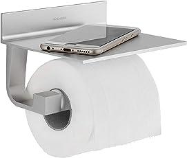 Wangel Toilettenpapierhalter ohne Bohren, Patentierter Kleber + Selbstklebender 3M-Kleber, Aluminium, Matte Finish