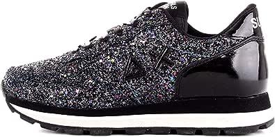SUN68 Z29204 11 Sneaker da Donna Nera in Glitter