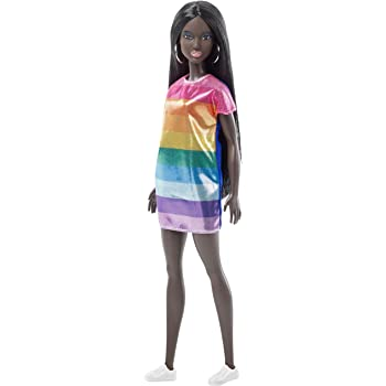 9c8e7508833 Barbie FJF50 FASHION AND BEAUTY Fashionistas Doll-Rainbow Sparkle  Dress-Original-Aa with Dark Brown Hair Gifts for 2 to 5 Years Children and  Fabulous ...