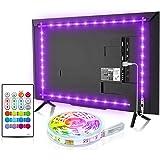 Led TV Hintergrundbeleuchtung, BASON USB LED Streifen 2.5m/8.2ft für 32-58 Zoll, DIY RGB Led Strip TV Led Beleuchtung mit Fer