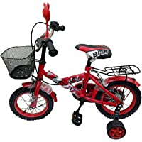 SkyFlag Double Seat Kids Cycle with Side Wheels for Boys & Girls - Age Group of 4 to 7 Years, Red (16 Inch)