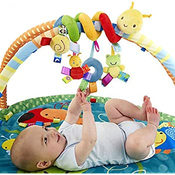 Butterme Baby Music Bed Hanging Cribs Toys-Wrap Around Crib Toys-Infant Musical Bed Cartoon Pushchair Toys