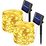 [2 Pack]Outdoor Solar Garden Lights, Ooklee Solar Fairy String Light, 10M 100LED 8 Modes, Waterproof Copper Wire Lighting for
