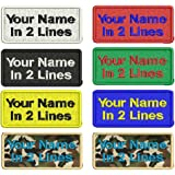 Custom Embroidery Name Patches 2 Pieces Personalized Military Number Tag Customized Logo ID for Multiple Clothing Bags Vest J