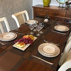 GODTEN Platzsets, Tischsets Rutschfest Abwaschbar, PVC Abgrifffeste Hitzebeständig Platzdeckchen für küche Speisetisch, 30x45cm