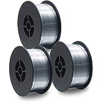 3 Stück D100 MIG MAG Fülldraht-Rolle Schweißdraht 1 KG / E71T-GS/Größe 0,8 mm/universell einsetzbar/NoGas/ohne Gas