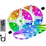 Auelek Ledstrip, 2 x 3 m, 360 leds, 5050 RGB, IP65, waterdicht, flexibel, meerkleurig, op maat te snijden, neondecor, 20 kleu