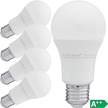 Lumare LED Lampe   5er E27 12W   Ersetzt 100w Watt Glühbirne   1535 Lumen   A60 Leuchtmittel   2700 Kelvin warmweiß Fassung