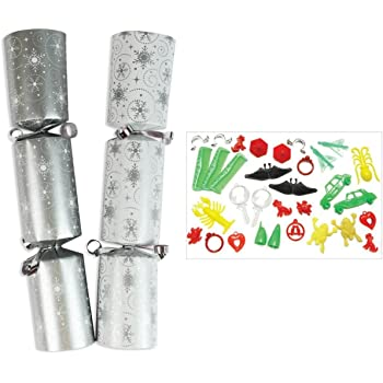 """100 X 10\ CHRISTMAS CATERING CRACKERS RED GREEN WHITE GOLD SILVER NOEL/"""""""