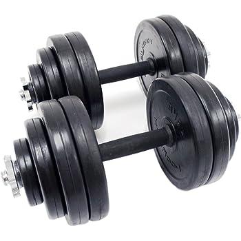 Juego de mancuernas Kit Pesos Entrenamiento Gimnasio Fitness cuerpo edificio casa Entrenamiento Muscular bodybuilding- rubbercoated