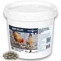 Chick'N Deluxe® GRIT DELUXE 5Kg. Complément Alimentaire pour pigeons/volailles. Mélange de minéraux, charbon actif et…