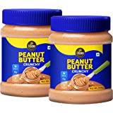 DiSano Peanut Butter, Crunchy, 25% Protein with Vitamins & Minerals, 350g (2 x 350g)
