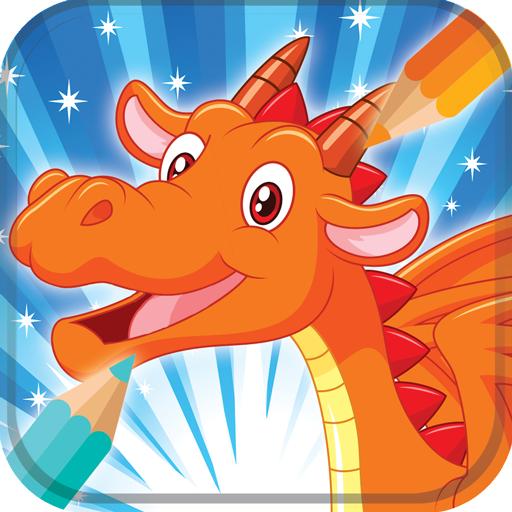 Livre de coloriage de dragon