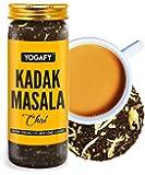 YOGAFY - Kadak Masala Chai | Darjeeling Black Tea Blend with Kerala Whole Spices| 30% More Whole Leaf | Refreshing Aroma…