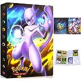 Porte Cartes Pokemon Album Album Classeur Livre 30 Pages Capacité de 240 Cartes (Mewtwo)