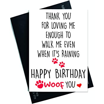 Happy Birthday Card From The Dog Pet For The Owner Lover Amazon