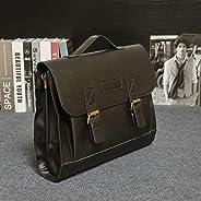 Boyamimina Men's Vintage Handbag Leather Briefcase Business Case Shoulder Messenger Laptop Bag