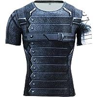 Superhero Compression Shirt Fitness Running Clothing Gym Cycling T-Shirt Tight Tops Baselayer