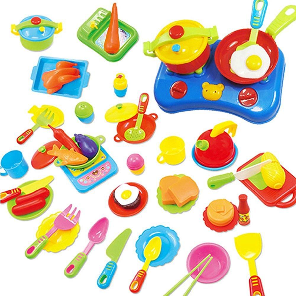 Küche Spielzeug Ware Set Plastik Kochen Geschirr Essen Kinder ...