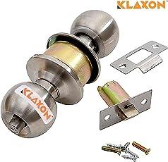 Klaxon Stainless Steel Cylindrical Lock/Tubular Lock (Silver, Matte Finish) (Without Keys)
