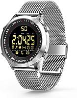 Smartwatch Orologi intelligenti Bluetooth fitness Tracker intelligente Orologio con pedometro cronometro per uomini...