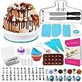 HapeeFun Kit de Fournitures de décoration de gâteaux, 95pcs Set de décoration de gâteaux-Outils de décoration de gâteaux avec