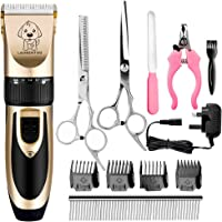 Set of Grooming Tools Oil Rechargeable Electric Hair Clippers Set for Dogs Cats with 4 Guide Combs Charger ZLYCZW Low Noise Pets Electric Grooming Clippers Brush