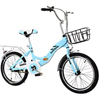 ALUNVA Faltrad,20 Zoll Kohlenstoffstahl Faltfahrrad,Tragbares Klappfahrrad,Mini City Faltbares Fahrrad,Hydraulische…