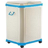 Primeway Setag XL MP Laundry Utility Storage Basket w/Lid on 4 wheels, 50L, Aqua