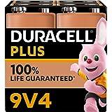 Duracell - Nuevo Pilas alcalinas Plus 9V, 6LR61 MN1604, Paquete de 4