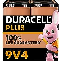 Duracell NEU Plus 9V Block Alkaline-Batterien, 6LR61 MN1604, 4er Pack