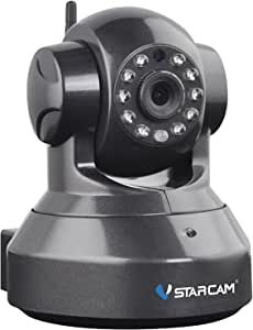 Vstarcam IP Camera, 720P HD WiFi Security Camera Surveillance Security System Video Recording Sonic Recognition P2P Pan Tilt Remote Motion Detect Alert With Two-Way Audio Support 128GB Micro SD,Black