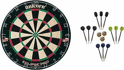 Unicorn Eclipse Pro Dartboard + 12 McDart Steeldarts (12 Steeldarts)